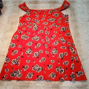 Torrid Heavier Weight Shorter Rose Dress Size 4X
